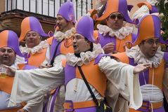 Coro no carnaval de Cadiz, Spain fotografia de stock royalty free