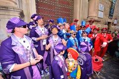 Coro típico do carnaval (chirigota) em Cadiz Imagem de Stock