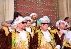 Coro típico do carnaval (chirigota) em Cadiz Fotos de Stock Royalty Free