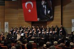 Coro turco moderno de la música clásica Foto de archivo