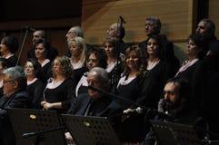 Coro turco moderno de la música clásica Imágenes de archivo libres de regalías
