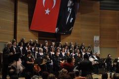 Coro turco moderno di musica classica Fotografie Stock