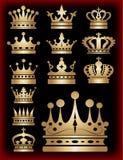 Coroa. Ícones da coleção. Vetor. Fotos de Stock