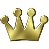 coroa 3D dourada Fotografia de Stock