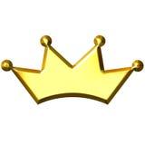 coroa 3D dourada Imagens de Stock Royalty Free