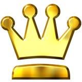 coroa 3D dourada Foto de Stock Royalty Free