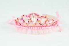 Coroa cor-de-rosa com joias cor-de-rosa Imagens de Stock