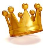 coroa 3D dourada Fotos de Stock Royalty Free