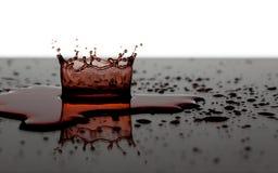 Coroa da água vermelha Fotos de Stock