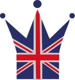 Coroa da bandeira de Reino Unido ilustração royalty free