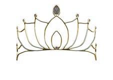 coroa da rainha da rendição 3D no branco Imagem de Stock