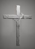 Coroa de espinhos Hung Around a rendição da cruz 3D da Páscoa ilustração do vetor