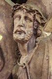 Coroa de Jesus Christ de espinhos em fotografia de stock