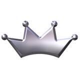 Coroa de prata Imagens de Stock
