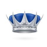Coroa de prata Foto de Stock Royalty Free