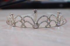 Coroa de prata da noiva Foto de Stock Royalty Free