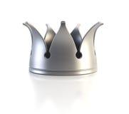 Coroa de prata isolada Imagens de Stock Royalty Free