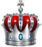 Coroa de prata no branco Imagens de Stock