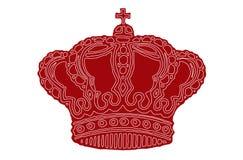 Coroa de Vectorised ilustração royalty free
