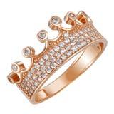 Coroa do anel de ouro Imagens de Stock Royalty Free