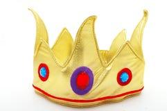 Coroa do brinquedo do ouro Fotografia de Stock