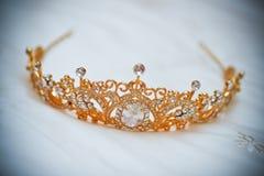 A coroa do casamento Fotografia de Stock Royalty Free