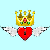 Coroa do coração Imagem de Stock