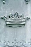 coroa do detalhe da lápide do 19o século Fotografia de Stock Royalty Free