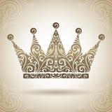 Coroa do ornamental do vintage Foto de Stock