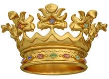 Coroa do ouro Fotografia de Stock Royalty Free