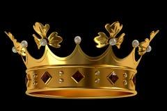 Coroa do ouro com jóias Imagens de Stock