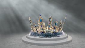 Coroa do pavão Imagens de Stock Royalty Free