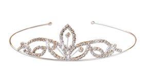 Coroa do vintage do casamento da noiva, isolada no branco Fotografia de Stock Royalty Free