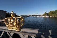 Coroa dourada, Éstocolmo Imagens de Stock