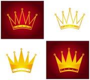 Coroa dourada Imagem de Stock