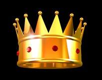 Coroa dourada Foto de Stock Royalty Free