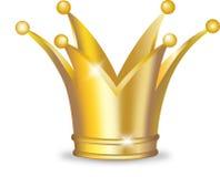 Coroa dourada Foto de Stock