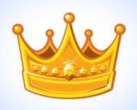 Coroa dourada Imagem de Stock Royalty Free