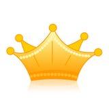 Coroa dourada Imagens de Stock Royalty Free
