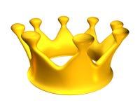 Coroa dourada C Imagens de Stock