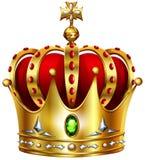 Coroa dourada com cruz Foto de Stock