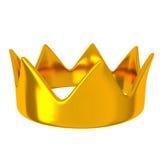 Coroa dourada, 3d Imagem de Stock