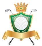 Coroa dourada do golfe Imagem de Stock