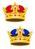 Coroa dourada do rei com gemas Foto de Stock Royalty Free