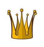 Coroa dourada do vetor Fotografia de Stock Royalty Free