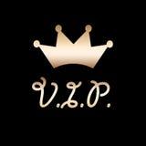 Coroa dourada do VIP Fotografia de Stock