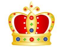 Coroa dourada dos desenhos animados do vetor fotografia de stock royalty free