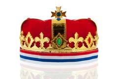 Coroa dourada holandesa para o rei Foto de Stock