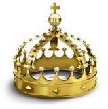 Coroa dourada (illsutration 3d) Foto de Stock Royalty Free
