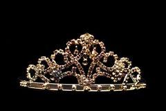 Coroa dourada isolada Foto de Stock Royalty Free